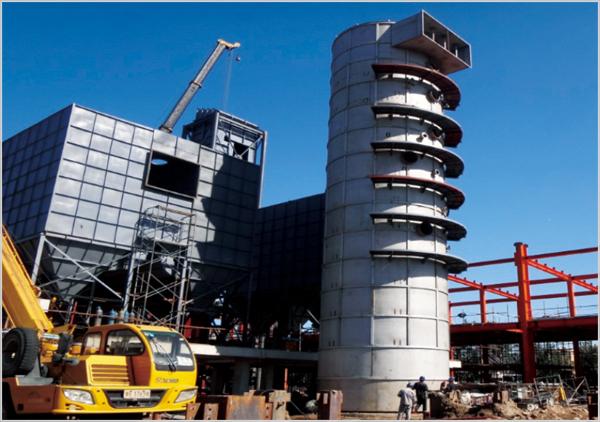 河北燕郊首爾甜城供熱工程除塵器、脫硫塔制作安裝工程
